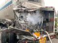 山西: 27吨液氧罐车被追尾泄漏 多部门17小时排险